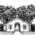 drawing of the Gate at Snug Harbor Staten Island